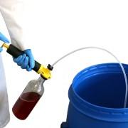 Liquid Pump Sampling Tool With Glass Bottle